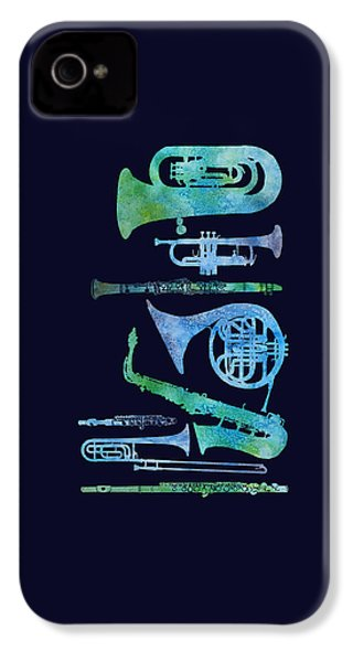 Cool Blue Band IPhone 4 / 4s Case by Jenny Armitage