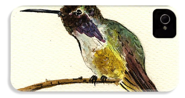 Costa S Hummingbird IPhone 4 / 4s Case by Juan  Bosco