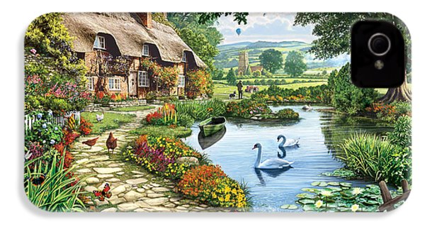 Cottage By The Lake IPhone 4 Case by Steve Crisp