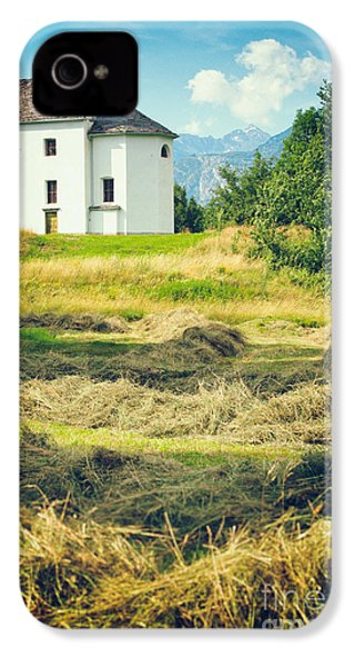 IPhone 4 Case featuring the photograph Country Church With Hay by Silvia Ganora