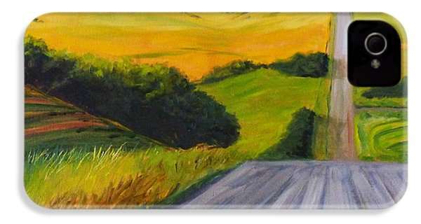 Country Road IPhone 4 Case by Nancy Merkle