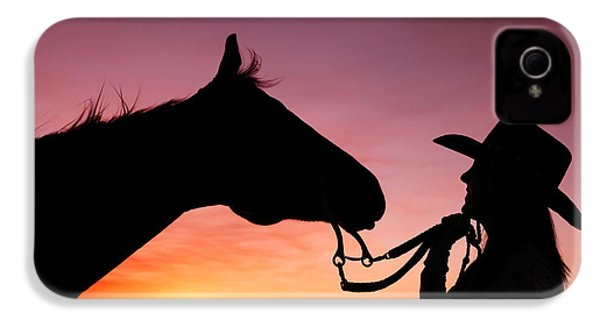 Cowgirl Sunset IPhone 4 Case by Todd Klassy