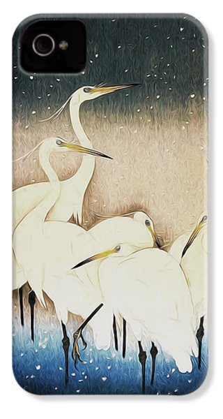 Cranes  IPhone 4 Case by Shanina Conway