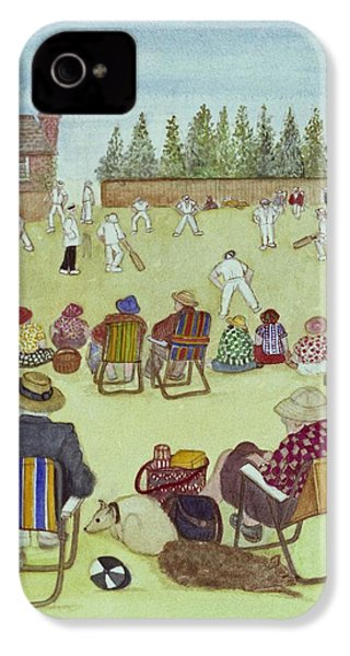 Cricket On The Green, 1987 Watercolour On Paper IPhone 4 / 4s Case by Gillian Lawson