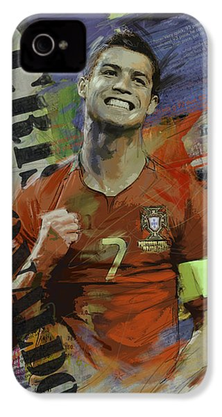Cristiano Ronaldo - B IPhone 4 Case by Corporate Art Task Force