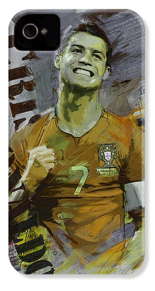 Cristiano Ronaldo IPhone 4 Case by Corporate Art Task Force