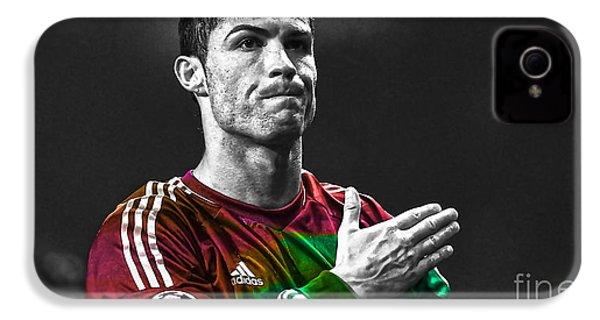 Cristiano Ronaldo IPhone 4 / 4s Case by Marvin Blaine