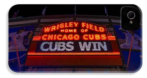 Cubs Win IPhone 4 Case by Steve Gadomski