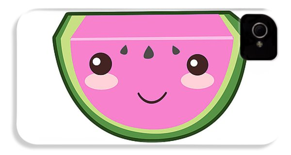 Cute Watermelon Illustration IPhone 4 Case by Pati Photography
