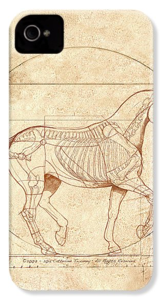 da Vinci Horse in Piaffe IPhone 4 Case by Catherine Twomey
