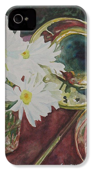 Daisies Bold As Brass IPhone 4 Case by Jenny Armitage