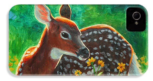 Daisy Deer IPhone 4 Case by Crista Forest