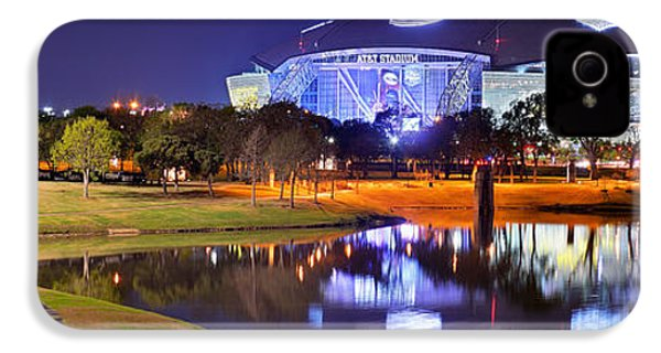 Dallas Cowboys Stadium At Night Att Arlington Texas Panoramic Photo IPhone 4 Case by Jon Holiday