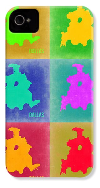 Dallas Pop Art Map 3 IPhone 4 Case by Naxart Studio