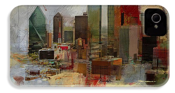 Dallas Skyline 003 IPhone 4 Case by Corporate Art Task Force