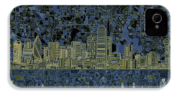 Dallas Skyline Abstract 2 IPhone 4 Case