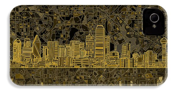 Dallas Skyline Abstract 3 IPhone 4 Case