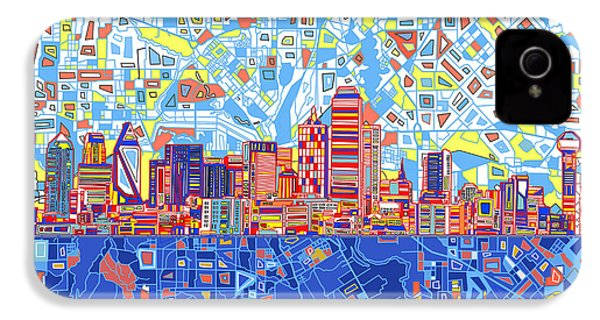 Dallas Skyline Abstract 5 IPhone 4 Case