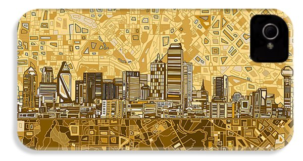 Dallas Skyline Abstract 6 IPhone 4 Case