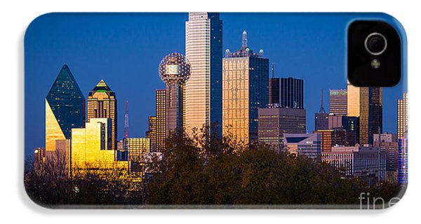 Dallas Skyline IPhone 4 Case by Inge Johnsson