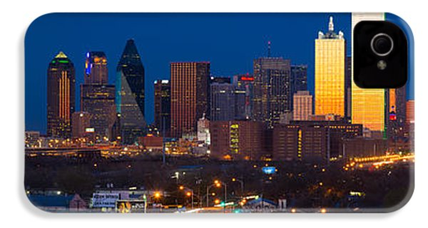 Dallas Skyline Panorama IPhone 4 Case by Inge Johnsson