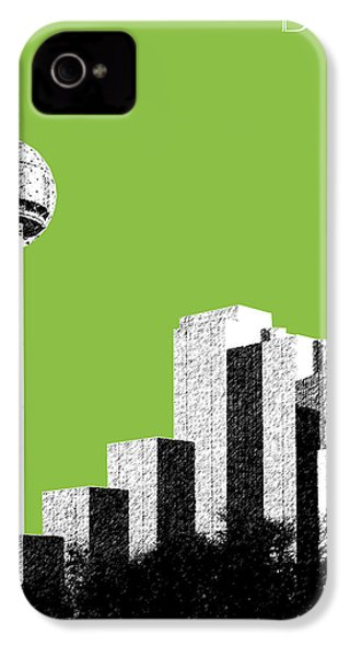 Dallas Skyline Reunion Tower - Olive IPhone 4 Case by DB Artist
