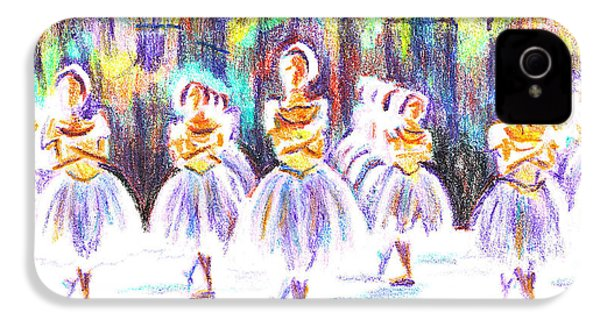 Dancers In The Forest II IPhone 4 / 4s Case by Kip DeVore