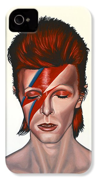 David Bowie Aladdin Sane IPhone 4 Case by Paul Meijering