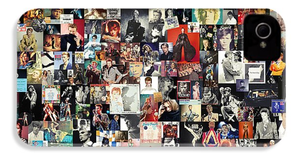 David Bowie Collage IPhone 4 Case by Taylan Apukovska