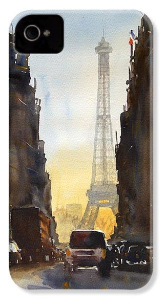 Dawn In Paris IPhone 4 Case by James Nyika