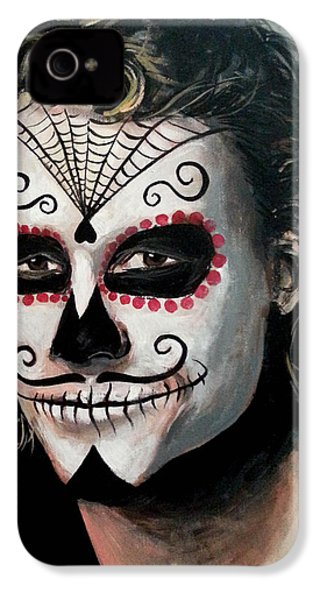 Day Of The Dead - Heath Ledger IPhone 4 Case by Tom Carlton