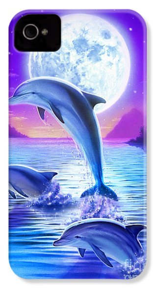Day Of The Dolphin IPhone 4 Case by Robin Koni