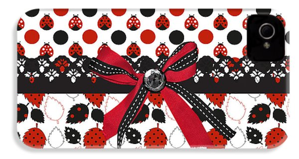 Dazzling Ladybugs  IPhone 4 Case by Debra  Miller