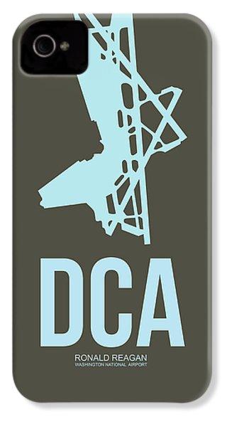 Dca Washington Airport Poster 1 IPhone 4 Case by Naxart Studio