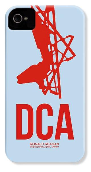 Dca Washington Airport Poster 2 IPhone 4 Case by Naxart Studio