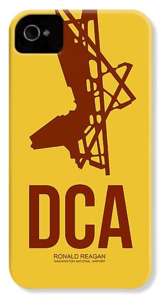 Dca Washington Airport Poster 3 IPhone 4 Case by Naxart Studio