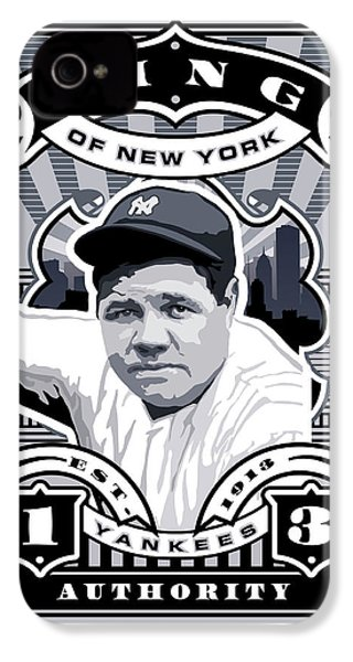 Dcla Babe Ruth Kings Of New York Stamp Artwork IPhone 4 Case by David Cook Los Angeles