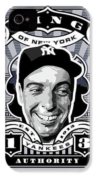 Dcla Joe Dimaggio Kings Of New York Stamp Artwork IPhone 4 Case by David Cook Los Angeles