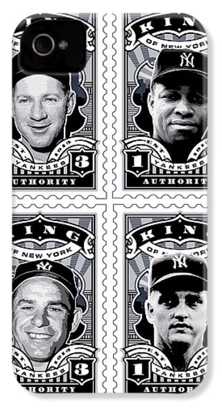 Dcla Kings Of New York Combo Stamp Artwork 2 IPhone 4 Case by David Cook Los Angeles