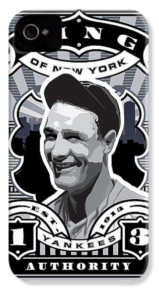 Dcla Lou Gehrig Kings Of New York Stamp Artwork IPhone 4 Case by David Cook Los Angeles