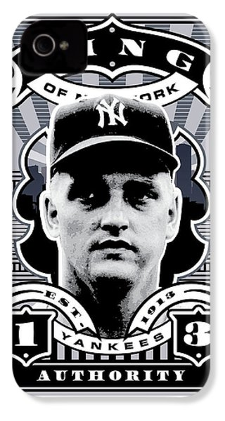 Dcla Roger Maris Kings Of New York Stamp Artwork IPhone 4 Case by David Cook Los Angeles