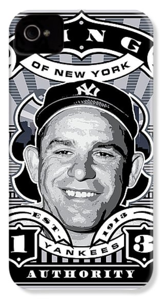 Dcla Yogi Berra Kings Of New York Stamp Artwork IPhone 4 Case by David Cook Los Angeles