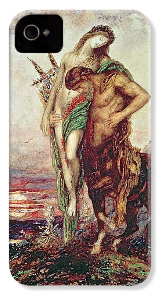 Dead Poet Borne By Centaur IPhone 4 Case by Gustave Moreau