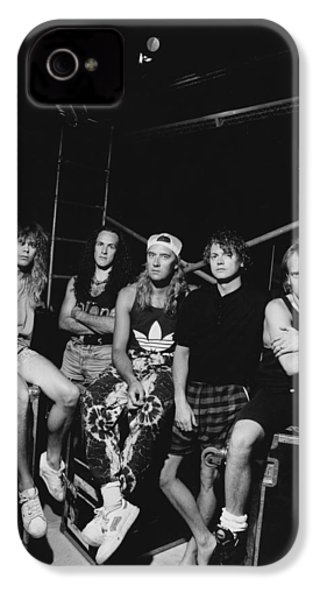 Def Leppard - Adrenalize Tour B&w 1992 IPhone 4 / 4s Case by Epic Rights