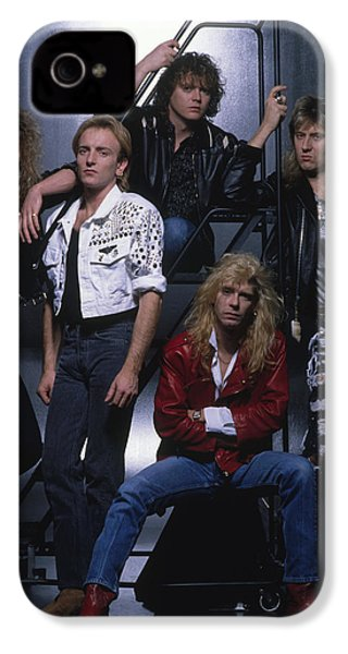 Def Leppard - Group Stairs 1987 IPhone 4 / 4s Case by Epic Rights