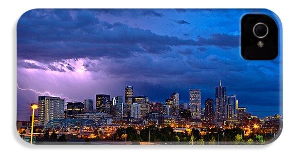Denver Skyline IPhone 4 Case by John K Sampson