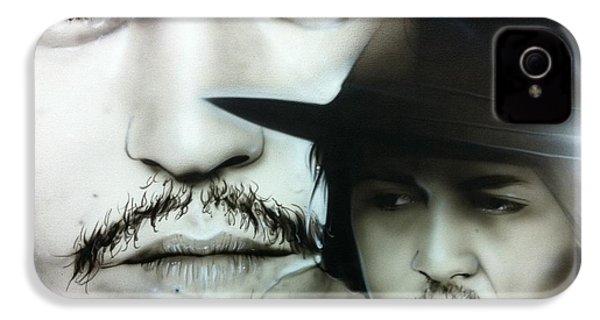 Johnny Depp - ' Depp ' IPhone 4 Case by Christian Chapman Art