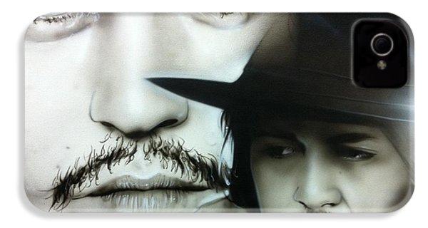 Johnny Depp - ' Depp ' IPhone 4 / 4s Case by Christian Chapman Art