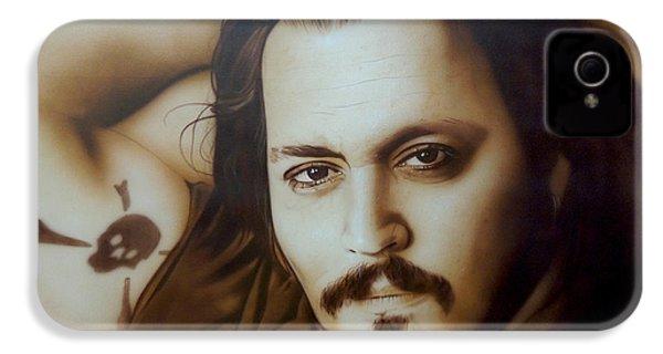 Johnny Depp - ' Depp II ' IPhone 4 Case by Christian Chapman Art