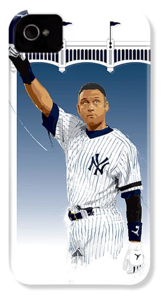 Derek Jeter 3000 Hits IPhone 4 / 4s Case by Scott Weigner